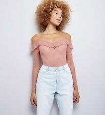 New Look Lace Bodysuit Pink/Nude UK 12