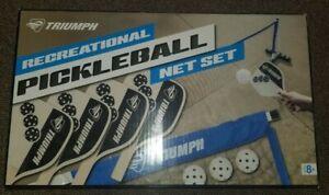 Triumph Recreational Pickleball Net Set New Open Box