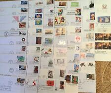 Vintage First Day of Issue US Stamps- Lot of 59 with Envelopes- Addressed