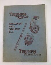 Triumph Terrier Replacement Parts Catalogue No. 2 Tiger Cub