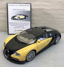 1:18 AUTOart Bugatti EB 16.4 Veyron Production Car in Black & Yellow Item 70904