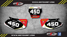 Honda CR 125 2002 - 2012 Custom number Plates Sonic graphics / stickers / decals