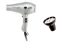 Parlux 3200 Silver Compact Ceramic  Hair Dryer and Hair Tools Universal Diffuser