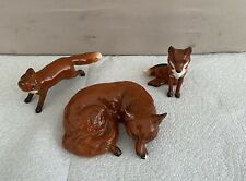 More details for 3 john beswick ceramic foxes