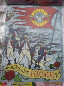 Guns N'Roses Lithograph JULY 20 ,2016 FOXBORO MA japan first shipping