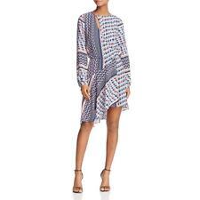 Parker Womens Noella Pink Silk Long Sleeves Mini Casual Dress L BHFO 2525