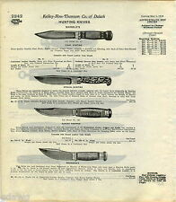 1916 ADVERT 3 PG Hunting Knife Knives Marbles Expert Trapper De Wesse Deer Foot