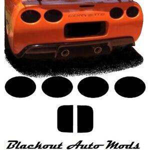 CORVETTE C5 Smoked Tinted Tail Light Covers Vinyl 1997 thru 2004