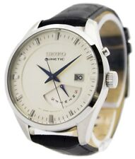 Seiko Kinetic Leather Strap SRN071P1 SRN071P Mens Watch