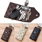 Women Men Genuine Leather Car KeyChain Card Holder Wallet Case key Organizer Bag