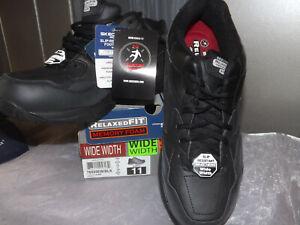 Skechers Work Women's US 11W Relaxed Fit SR Memory Foam Work Shoe 76555EW