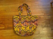 Uganda Yellow Floral Tote Bag Gilead National Minority Council AIDS USCA NMAC