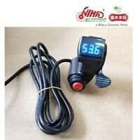 19 E-BIKE Thumb Throttle with LCD Digital Battery Voltage Display 3 Speed Switch