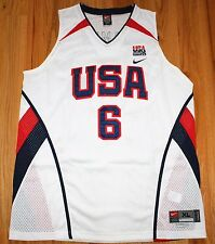 LEBRON JAMES #6 NIKE AUTHENTIC USA NATIONAL BASKETBALL TEAM JERSEY XL NEW NWT