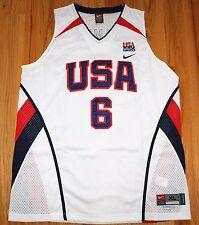 LEBRON JAMES #6 NIKE AUTHENTIC USA NATIONAL BASKETBALL TEAM JERSEY XL NEW NWT