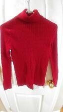Red  TALBOTS long sleeve turtleneck sweater