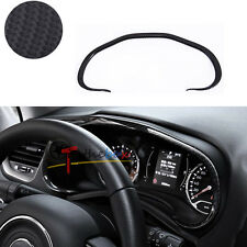 (1) Carbon Fiber Style Instrument Desk Outlet Cover Trim For Jeep Renegade