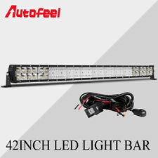 Quad-Row 42inch LED Light Bar 6272W Flood Spot Combo Fog Lamps w/ Free Wire Kits