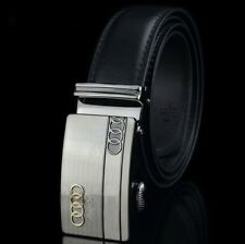 For Audi Mens Leather Belt Strap Designer Automatic Buckle Waistband Strap