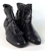 Preworn Womens UK Size 7 Black Ankle Boots