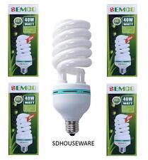 5 X 40W 8000k CFL LIGHTBULB DAYLIGHT BULB E27 SPIRAL ENERGY SAVER BULB