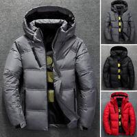 Men's Winter Duck Down Hooded Puffer Warm Outwear Coat Plus Size Stylish Jacket