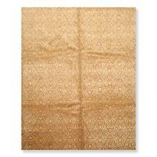 8'x10' Hand Knotted Wool & Silk Tibetan Oriental Area Rug Transitional 8x10 Tan