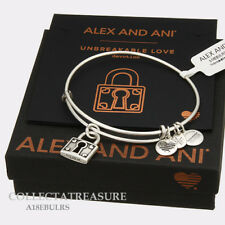 Authentic Alex and Ani Unbreakable Love Rafaelian Silver Expandable Charm Bangle