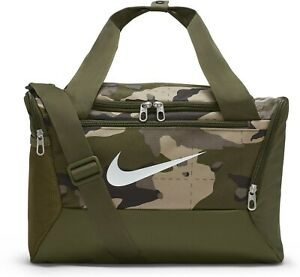 Nike Brasilia Camo Training Duffel Bag XS 9.0 AOP Unisex Sports Khaki DB1197-247