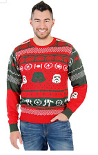 Star Wars Christmas Sweater Darth Vader Storm Trooper AT AT  - 3XL