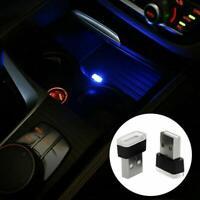 Mini Lamp Bulb Accessories USB LED Car Interior Light Neon Am Atmosphere Q5U7