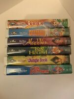 Lot of 6 Walt Disney Black Diamond Classic Edition VHS Tape Movies