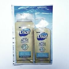 Dial Oil Free Acne Control Body Wash and Face Wash Sample 0.35 oz each