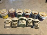 Lot Embossing Powder-11 Jars New And Used. CTMH