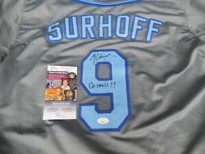 B.J. BJ Surhoff signed North Carolina UNC Tar Heels sewn on XL jersey JSA COA