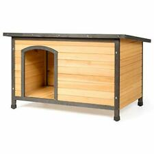 Wood Dog House for Medium Small Dogs Outdoor Weatherproof (33 x 24 x 22 in)