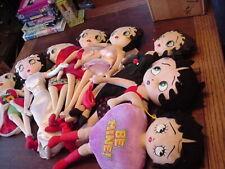 Lot of 8 Betty Boop Dolls, Red Runway, Peaceloving, Ballroon, Marilyn, Santa ++