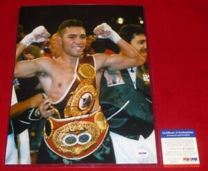 OSCAR DE LA HOYA boxing star signed PSA/DNA 11X14 photo COA