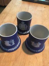 """1-Wedgwood Jasperware Antique Dark Blue Dip 2.5"""" Match Strike NICE! Choose 1of 2"""