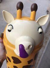 Rare Korean Everland Theme Park Souvenir Collectible Popcorn Tub Bucket Giraffe