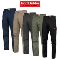 Mens Hard Yakka Work Pants 3056 Ripstop Stretch Cargo Slim Strong Perform Y02255