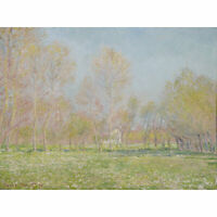 Claude Monet Spring In Giverny 1890 Painting XL Wall Art Canvas Print