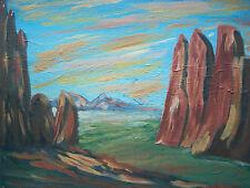 ROBERT P. FLYNN - Vintage Surrealist Landscape - Signed & Dated - Circa 1970