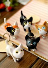 Cute Cartoon PVC Cat Key Chain Self Defense Keyring Cat key button Keyrings Q2