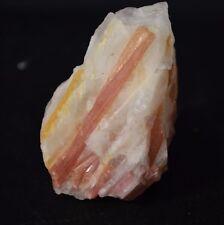 Rubellite sur Quartz Tourmaline Rouge du Bresil 70 grammes rubelite