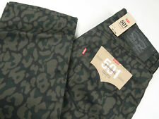 Levis Mens 501 Original Shrink To Fit Raw Jeans Bubble Cheetah Anthracite 33x36