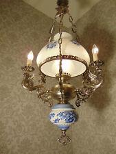 antik  Kronleuchter Lüster Deckenlampe Bronze Silber Messing Frankreich  ca.1920