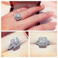 14k White Gold Over 2.50Ct Round Cut VVS1 Halo Diamond Engagement Wedding Ring