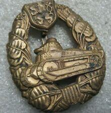 /Czechoslovakia Army Badge Tank Corps pre ww2,Skoda LTVz35