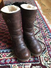 UGG boots 38 Kensington Leder Biker Stiefel Winter Braun Echtfell 37
